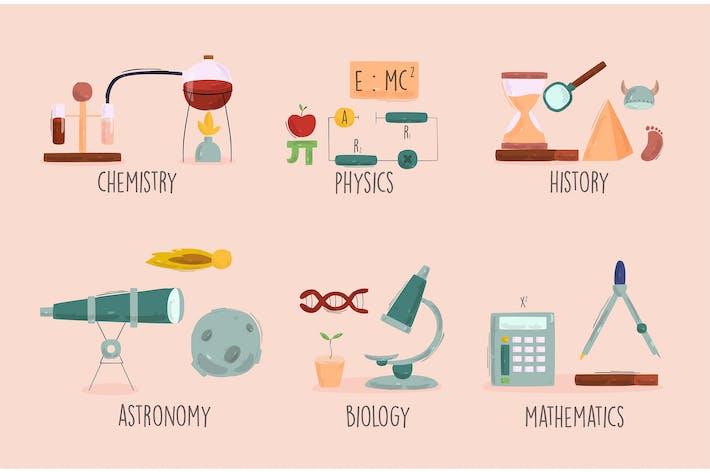 School Icons Illustration