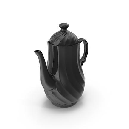 Черный чайный горшок