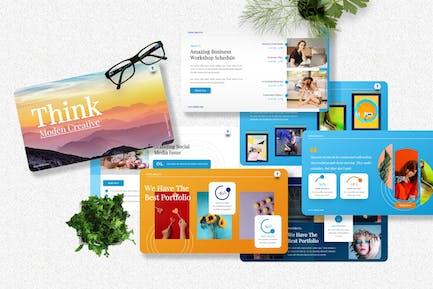 Think - Modern Creative Googleslide Template