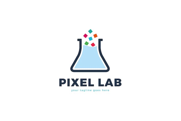 Thumbnail for Pixel Lab Logo Template