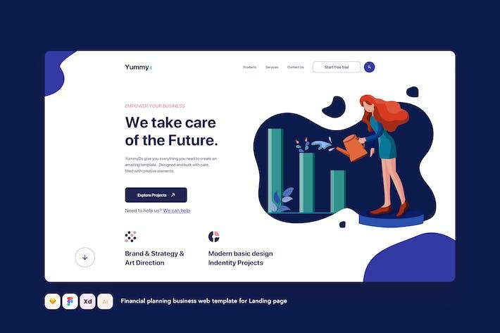 Thumbnail for Финансовое планирование бизнеса Landing Page
