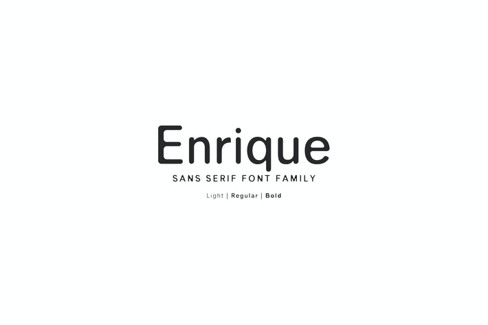 Thumbnail for Enrique Sans Serif Font Family