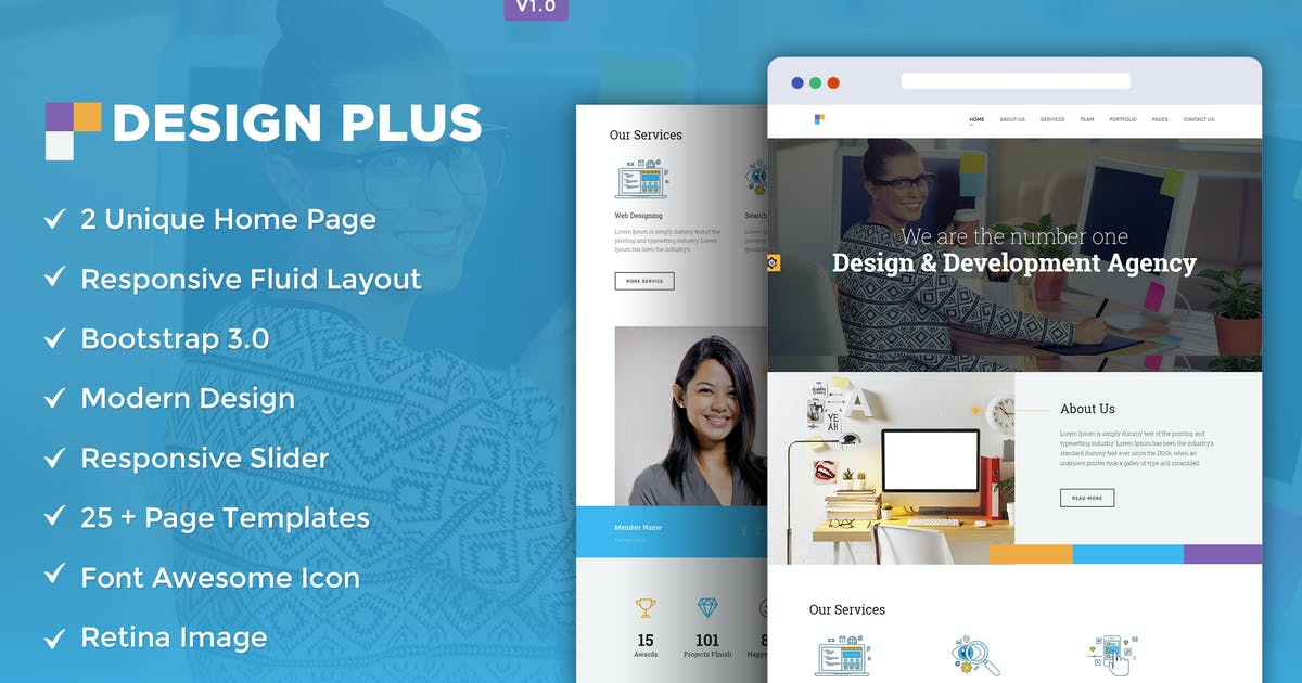 Download Design Agency HTML5 Template by theemon