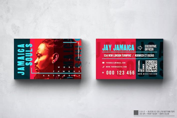 Jamaica Souls Music Business Card Design