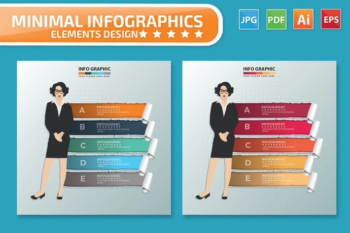 Thumbnail for Woman infographic Design