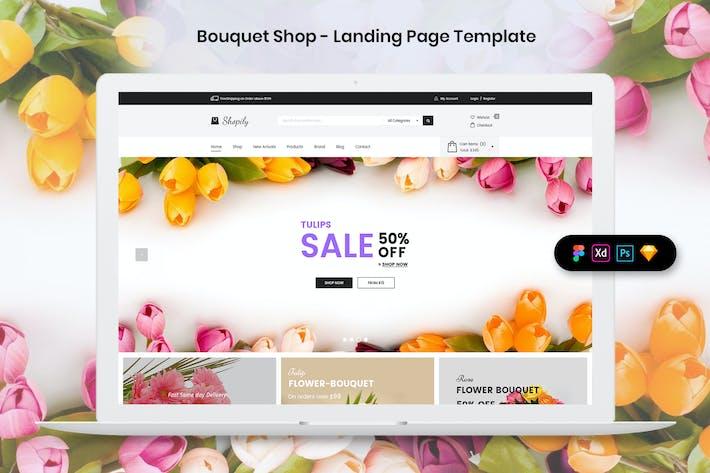 Thumbnail for Bouquet Shop - Landing Page Template