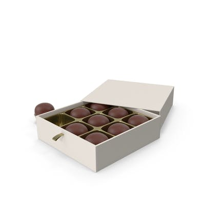 Chocolate Candies with White Gift Box