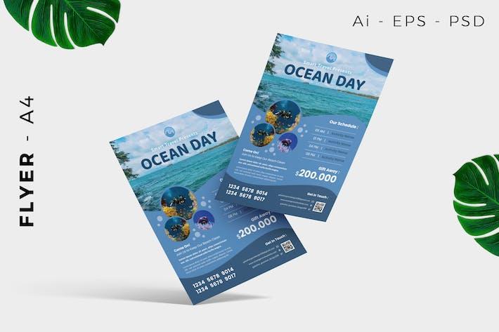 Thumbnail for Travel Ocean /  Beach Flyer Design