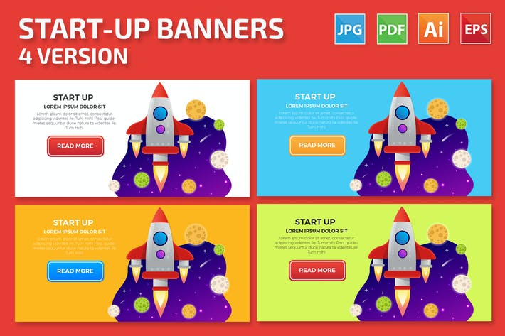 Thumbnail for Start-Up Banners Design