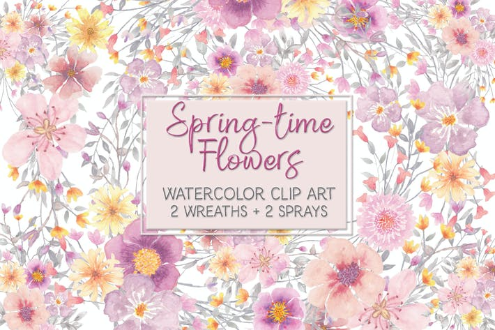 Thumbnail for Spring-time Flower Clip Art