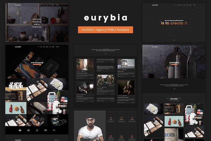 eurybia creative portfolio html template by ig design on envato