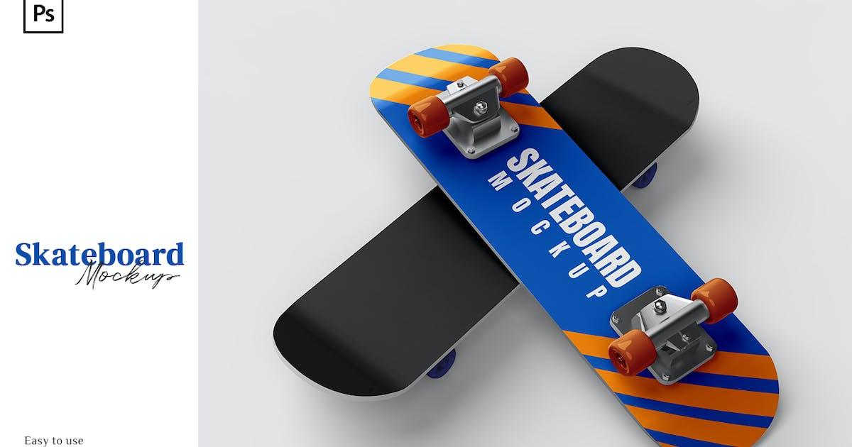 Download Skateboard Mockup 2 Views by nathatype