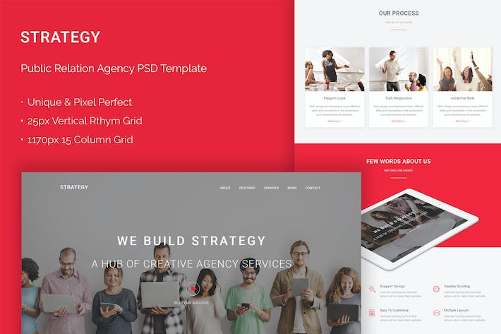 Thumbnail for Strategy - Public Relations Agency PSD Theme