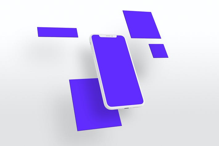 Thumbnail for iPhone X Перспективный многоэкранный маскап