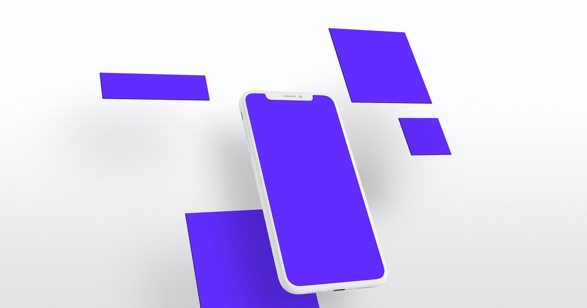 Download iPhone X Perspective Multi-Screen Mockup by Stockware