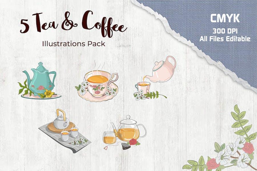 Tea and Coffee Illustration