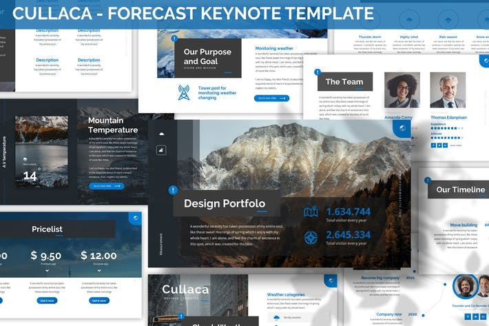 Thumbnail for Cullaca - Forecast Keynote Template