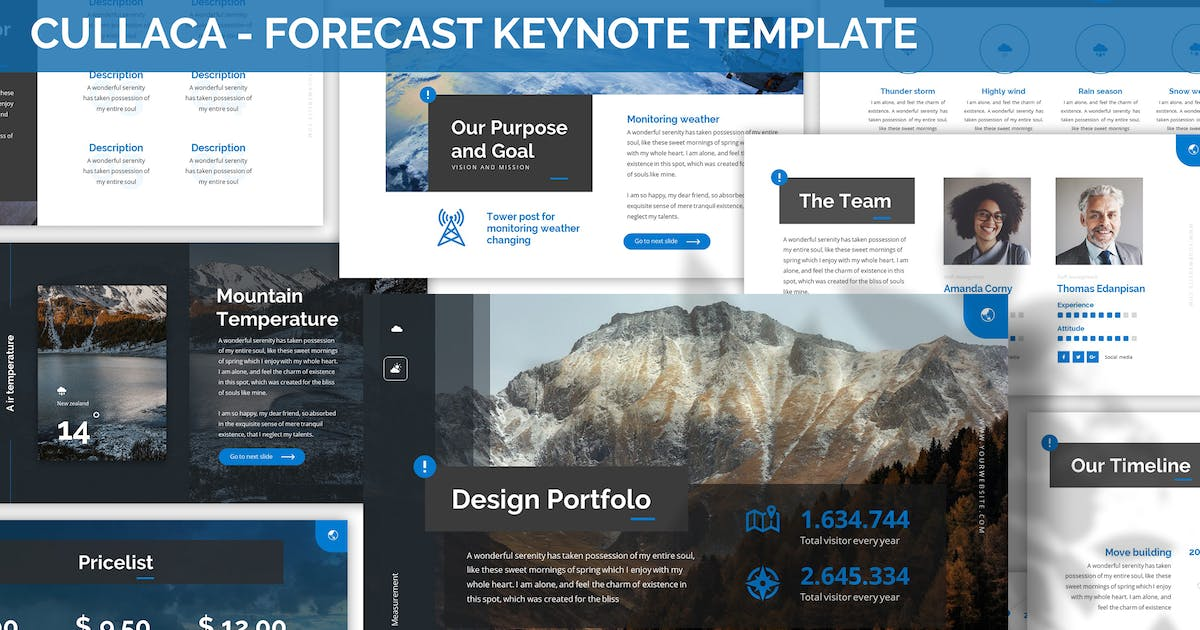 Download Cullaca - Forecast Keynote Template by SlideFactory