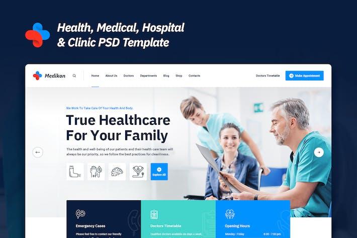 Thumbnail for Medikon - Health & Medical PSD Template