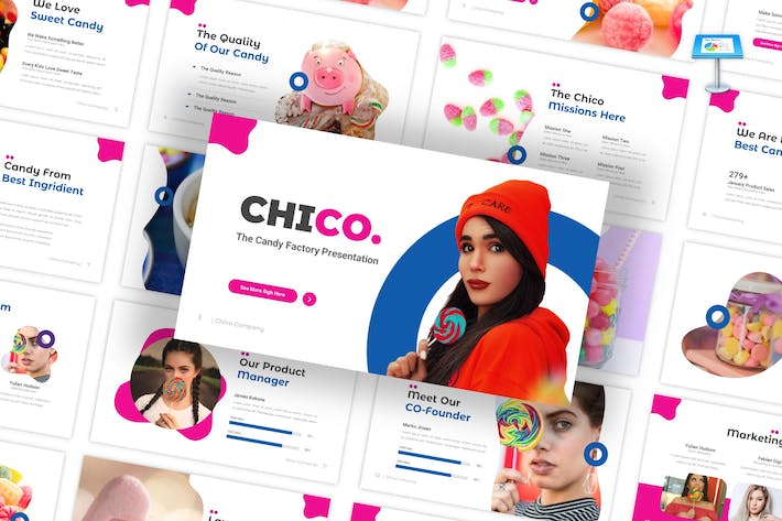 Thumbnail for Chico - Candy Factory Keynote Template