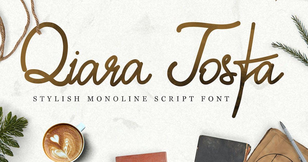 Download Qiara Tosfa - Handwritten Script Font by kotakkuningstudio
