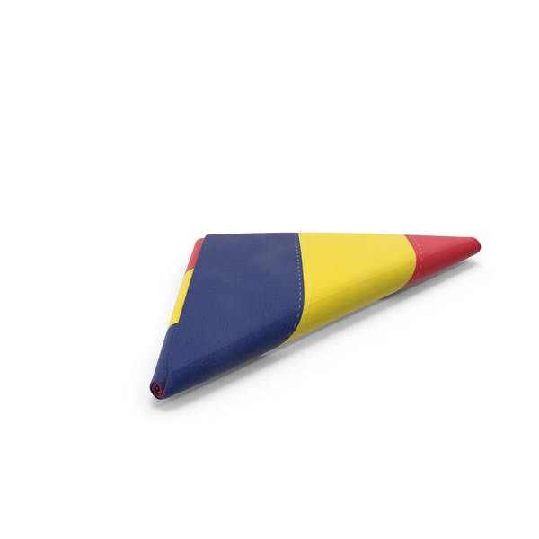 Chad Flag Folded Triangle
