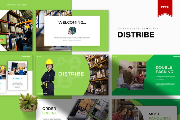 Thumbnail for Distribe | Powerpoint Template