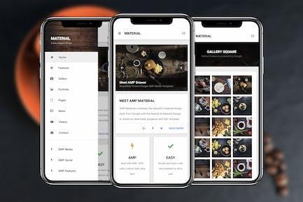 AMP Material Mobile | Google AMP Mobile Vorlage