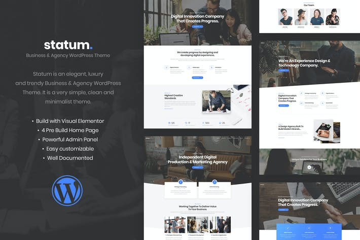 Thumbnail for Statum - Business & Agency WordPress Theme
