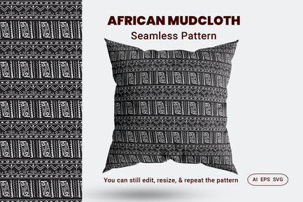 Seamless Pattern African Mudcloth