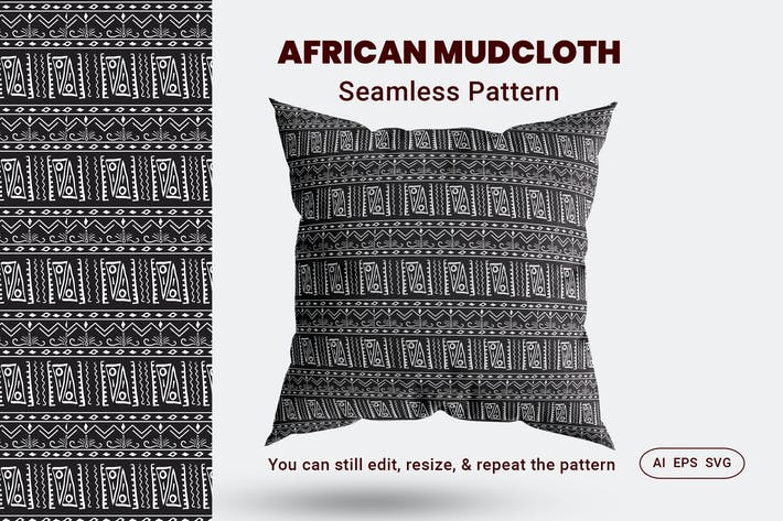 Thumbnail for Seamless Pattern African Mudcloth