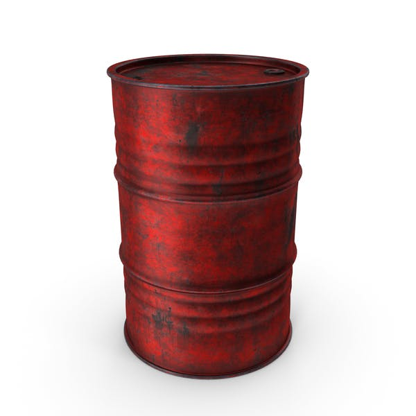 Metal Barrel Worn Red