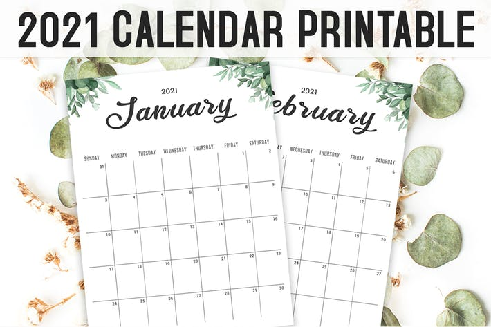 Calendar 2021 Printable Template