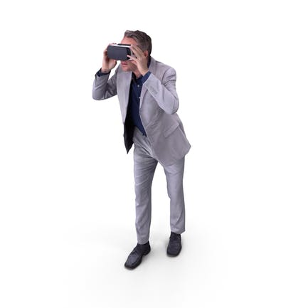Man With VR Posed