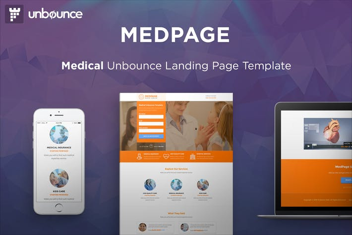 Thumbnail for MedPage - Medical Unbounce Template