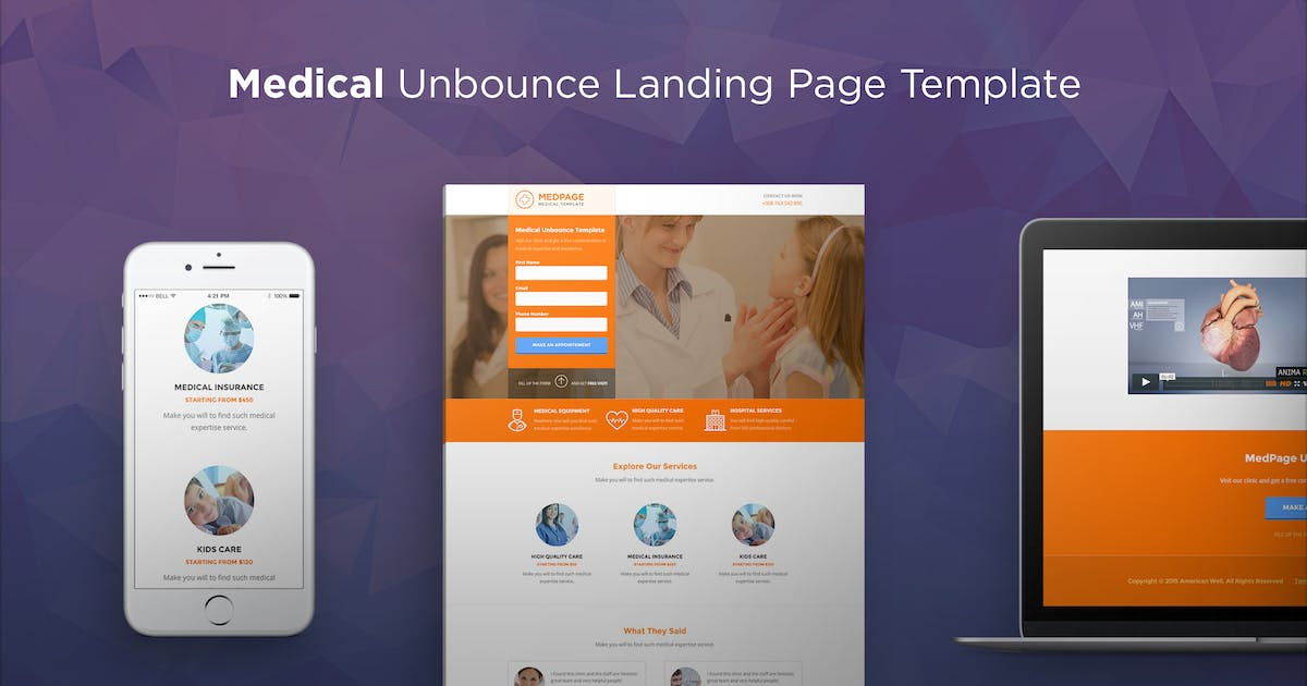 Download MedPage - Medical Unbounce Template by PixFort