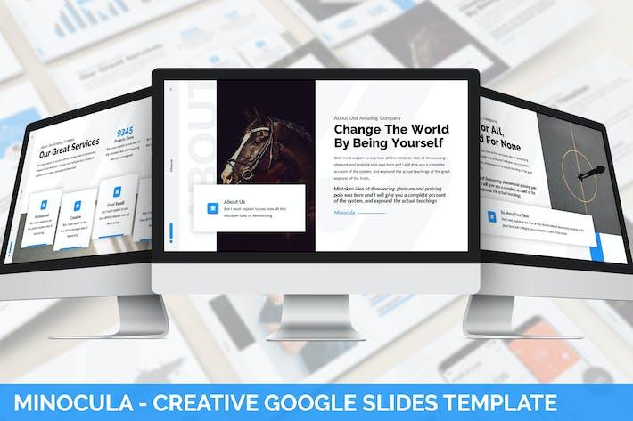 Thumbnail for Minocula - Creative Google Slides Template