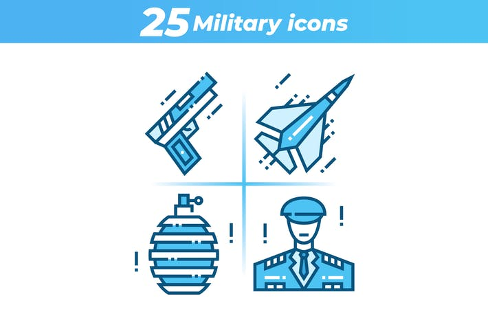Thumbnail for 25 Military Icons