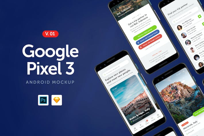 Thumbnail for Google Pixel 3 - Android Mockup 1.0