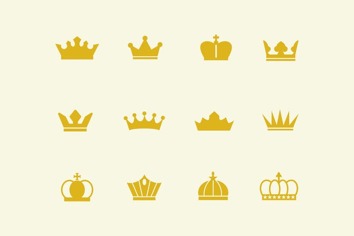 Thumbnail for 12 Crown Icons