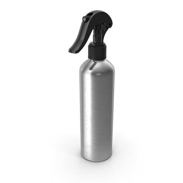 Botella de Aluminio con Spray Negro Top 250 ml
