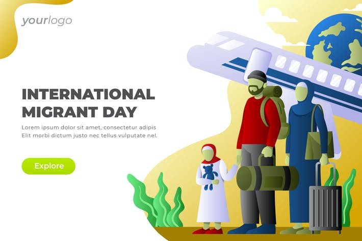 Thumbnail for International Migrant Day - Vector Illustration