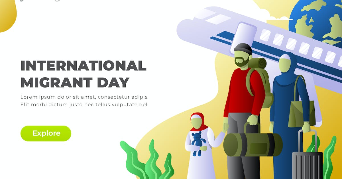 Download International Migrant Day - Vector Illustration by Graphiqa