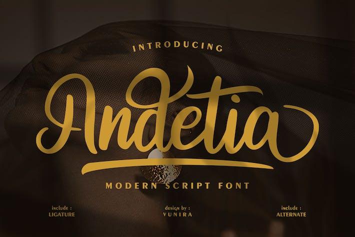 Thumbnail for Andetia   Fuente de escritura moderna