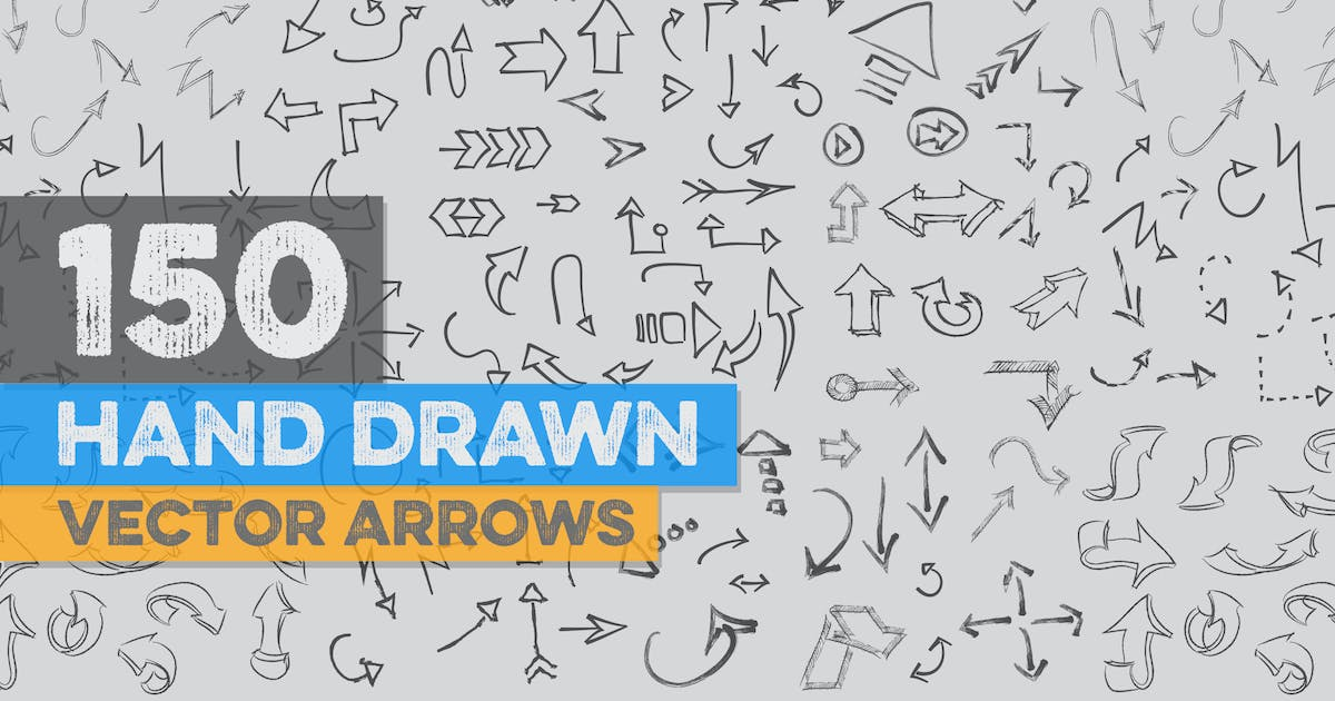 Download 150 Hand Drawn Vector Arrows by Zeppelin_Graphics