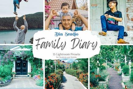 Family Diary Lightroom Presets