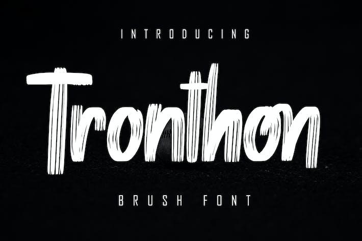 Thumbnail for Tronthon Brush Font
