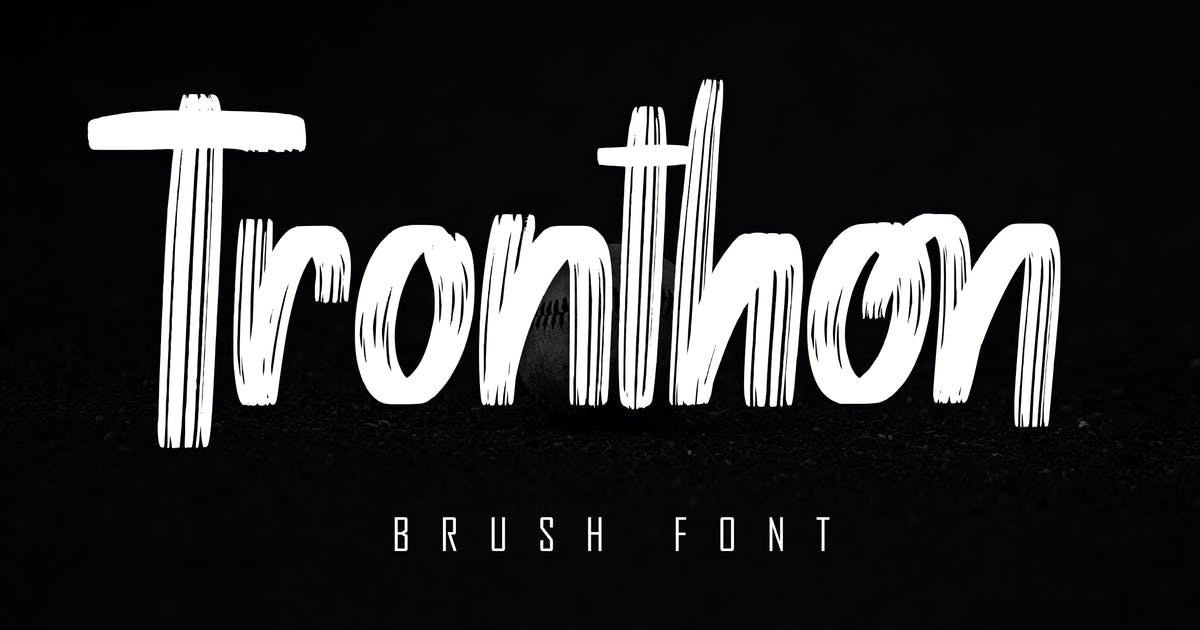 Download Tronthon Brush Font by Skiiller_studio