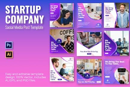 Vorlage für soziale Medien für Startup
