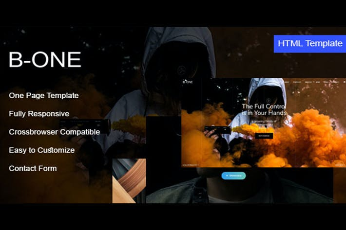Thumbnail for B-One - One Page HTML Template